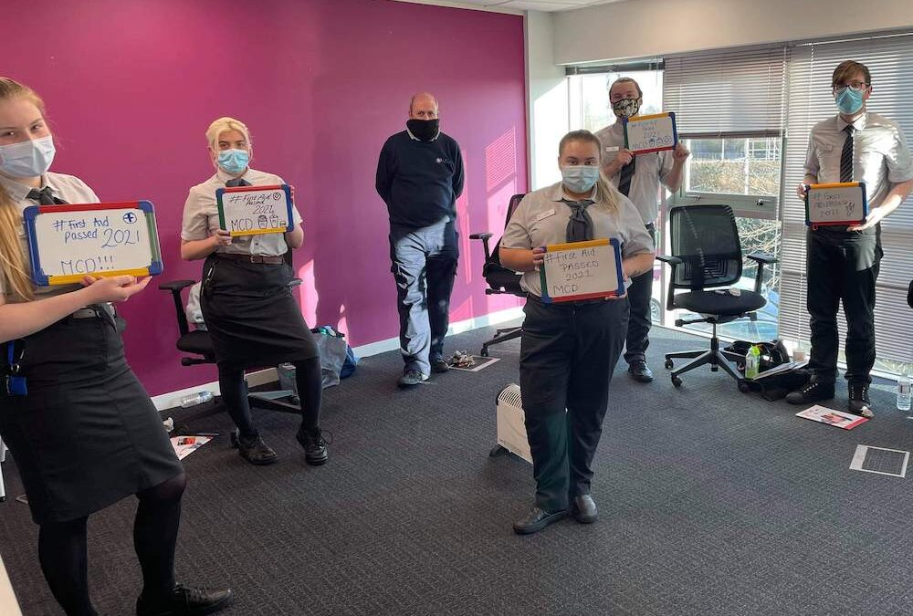 First Aid Training for Aberrant Group Ltd T/A McDonald's.